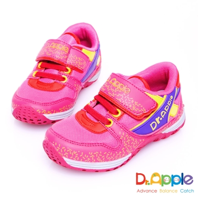 Dr. Apple 機能童鞋 歡樂巧克力米繽紛休閒童鞋款 粉