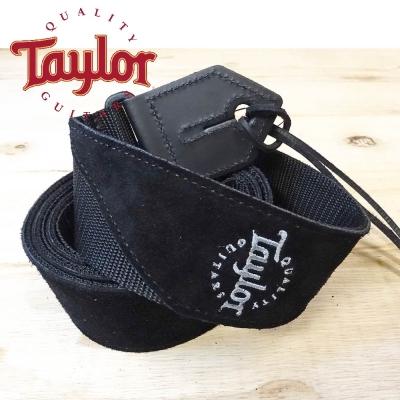 TAYLOR TLOP-65121 黑色麂皮尼龍吉他貝斯背帶