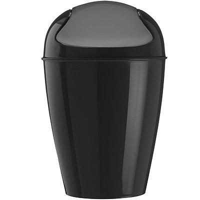 KOZIOL 搖擺蓋垃圾桶(黑XXS)