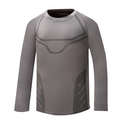 【ATUNAS 歐都納】男款質輕快乾透氣無縫貼身長袖內著衣 A-U1615M 深灰
