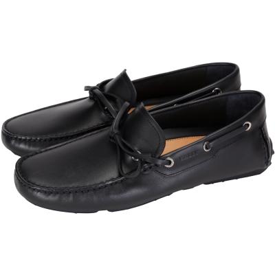 BALLY DRAMER 黑色牛皮綁帶休閒鞋(男)