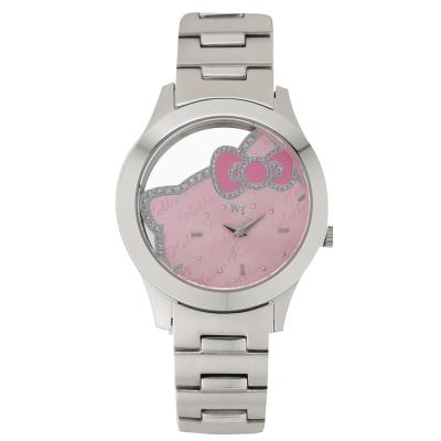 HELLO KITTY 凱蒂貓簍空俏麗手錶-粉紅/38mm