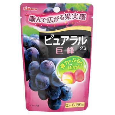 Kabaya卡巴-Pural巨峰葡萄軟糖-50gx3包