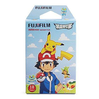 [1盒裝]FUJIFILM mini 拍立得底片(精靈寶可夢-小智篇) 藍盒