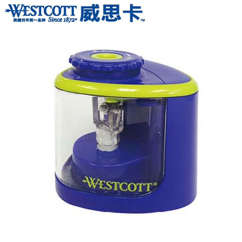 WESTCOTT 威思卡 16388 藍 鈦金屬刀頭兩用電動削筆機