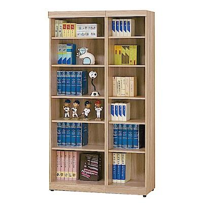品家居 黛娜3.3尺橡木開放式書櫃-100x33x180cm免組