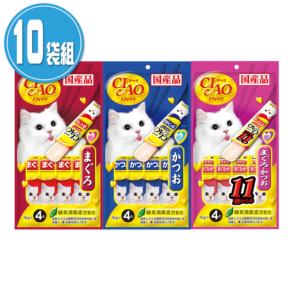 CIAO 啾嚕 日本 寒天肉泥系列(15gX4入)X10袋組