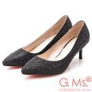 G.Ms. 花嫁系列-尖頭貼鑽新娘鞋-黑色