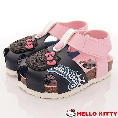 HelloKitty童鞋 餅乾造型護趾涼鞋款 EI18139藍(小童段)