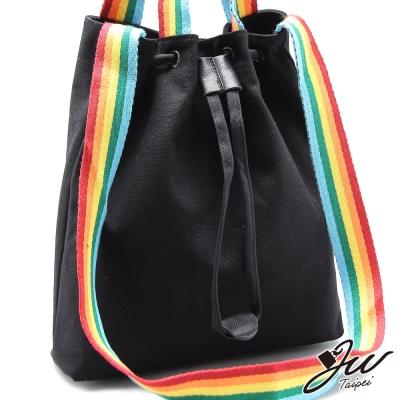 JW-水桶包-西雅圖彩虹帆布束口手肩側包-共五色