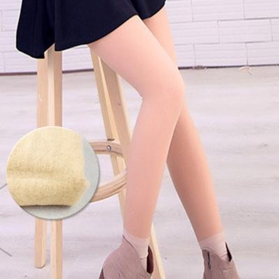 褲襪 光腿神器韓國假透膚超顯瘦刷毛 亮腿膚 ThreeShape