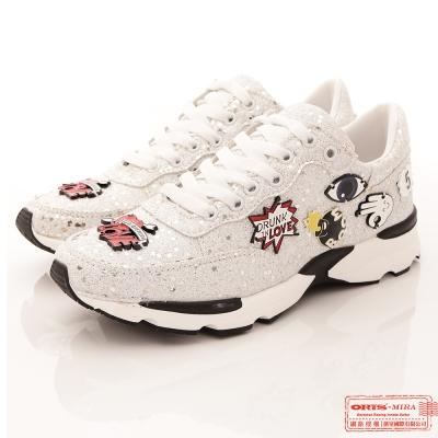 ORIS 女款 華麗璀璨金蔥亮片 飾品 休閒鞋-(W7508T09白)