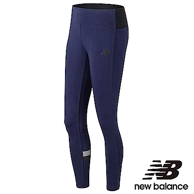 New Balance 彈性色塊印花緊身褲 AWP73537PGM 女性 丈青