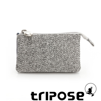 tripose 漫遊系列岩紋簡約微旅萬用零錢包 灰