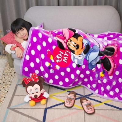 Disney米妮公主 頂級加厚法蘭絨休閒毯