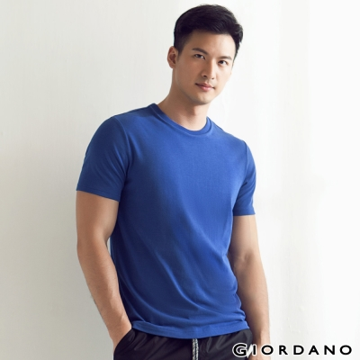 GIORDANO-男裝素色純棉圓領短袖TEE-25