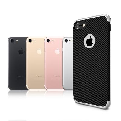 VXTRA iPhone 8/iPhone 7 防震電鍍雙料軟性手機殼 太空銀