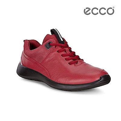 ECCO SOFT 5 番茄紅舒適休閒鞋-紅