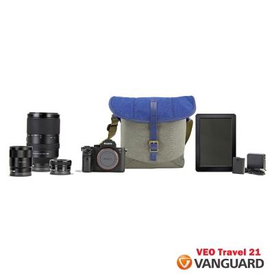VANGUARD 精嘉 唯影者旅行 21 VEO Travel 21 側背相機包-藍色