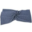 FENDI 灰藍色雙F織紋羊毛圍巾(100%LANA)