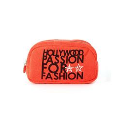 kitson 輕柔毛巾布化妝包-ORANGE