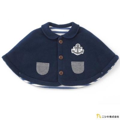 Nishiki 日本株式會社 海軍藍鋪棉船錨披風外套
