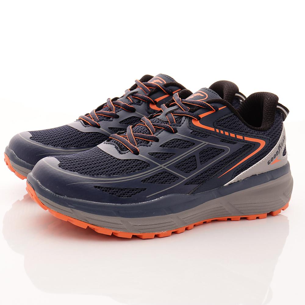 GOODYEAR-輕量動能緩震跑鞋-EI3386藍(男段)