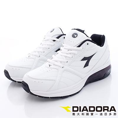 DIADORA-乳膠動能氣墊跑鞋-TH308白黑(男段)