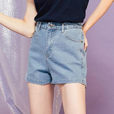 CACO-高腰修身牛仔短褲-女【PSH229】