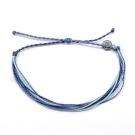 Pura Vida 美國手工 守護天使 藍色系可調式手鍊衝浪海灘防水手繩