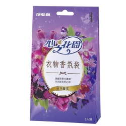 依必朗-心之花園系列-衣物香氛袋 蘭花馨香*3入