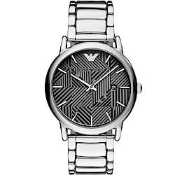 Emporio Armani幾何美學時尚腕錶(AR11134)-43mm