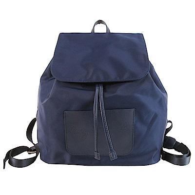 agnes b. 鏤空LOGO後背包-(藍)