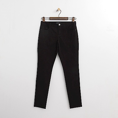Hang Ten - 女裝 - 純色斜紋修身長褲-黑色