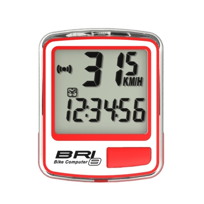 ECHOWELL BRI-8 多功能自行車有線碼錶 紅