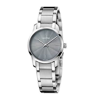 CK CALVIN KLEIN City 都會系列灰面小錶面女錶-31mm