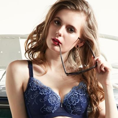 推EASY SHOP-浪漫假期 大罩杯B-E罩內衣(藏青藍)