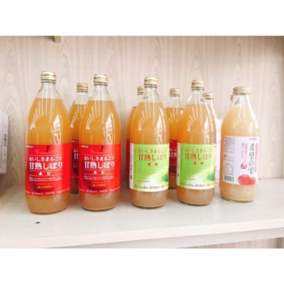 果之蔬-日本青森甘熟蘋果原汁1000ml六罐