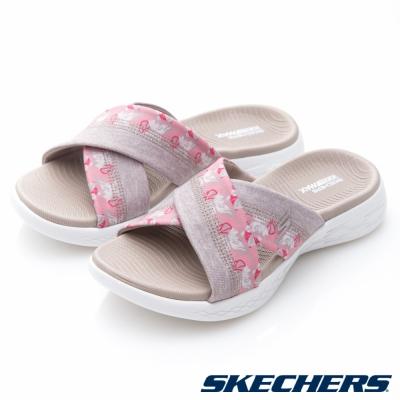 SKECHERS(女)時尚休閒系列ON THE GO 600拖鞋-15306TPE