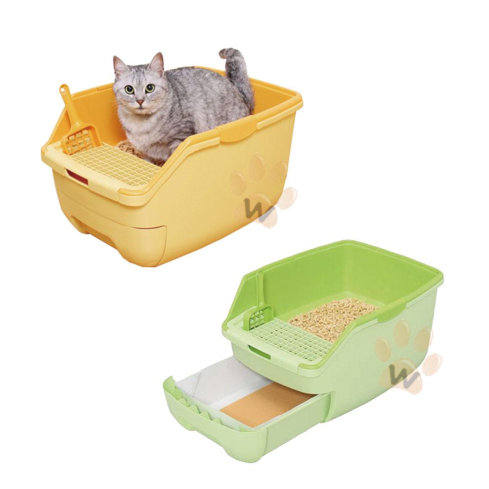 日本IRIS 抽屜式雙層貓砂屋貓砂盆RCT530 1入