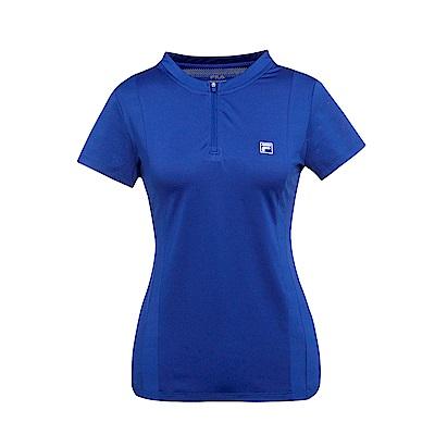 FILA 女抗UV吸濕排汗T恤-藍紫 5TES-1312-VT