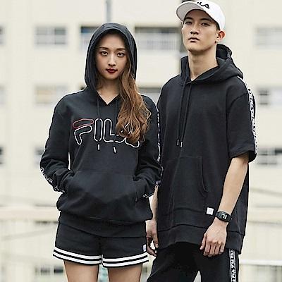 FILA #東京企劃 短袖連帽T恤-黑1TES-1404-BK