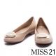 低跟鞋-MISS-21時尚經典金屬飾釦羊皮低跟鞋