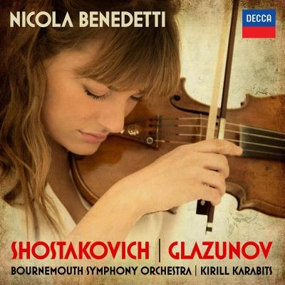 蕭士塔高維契葛拉茲諾夫-小提琴協奏曲-1CD
