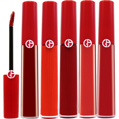 GIORGIO ARMANI(GA) 奢華絲絨訂製唇萃6.5ml 航空版+專櫃體驗包x1