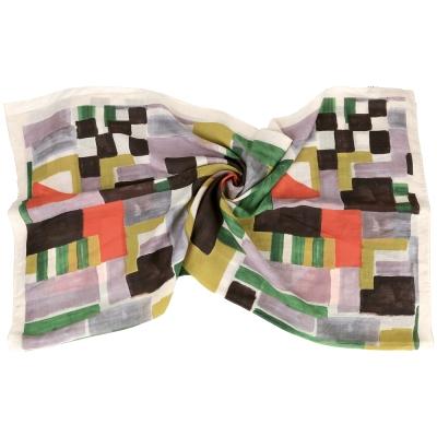 Max Mara 彩色方塊圖印圍巾