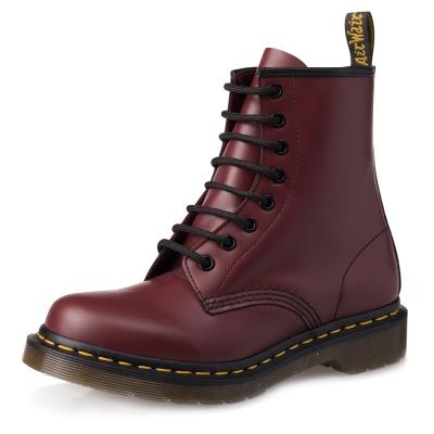 Dr.Martens-經典1460 8孔亮皮馬汀靴-女款-櫻桃紅