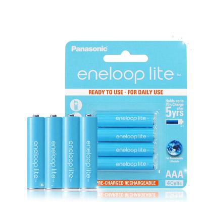 藍鑽輕量版 Panasonic eneloop lite 低自放4號充電電池(4顆入)