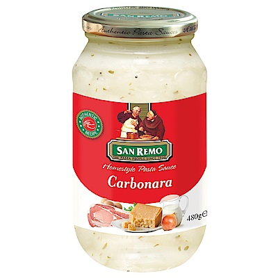 San Remo聖雷蒙 頂級義大利白醬-奶油培根(480g)