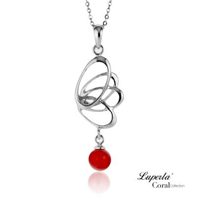 大東山珠寶 全紅珊瑚項鍊墜飾 福疊圓滿